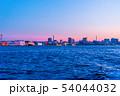 横浜港の夕焼け 54044032