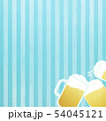 背景-ビール-乾杯-ストライプ-ブルー 54045121