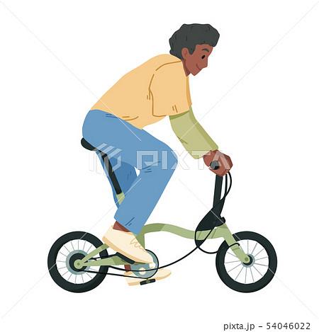 Boy riding bicycle, teenager on bike vector 54046022