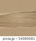 Torn brown texturing paper over a wooden wall. 54060081
