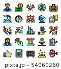 business pixel perfect color line icons 54060260