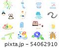 7月イラスト(水彩) 54062910