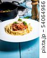 Italian pasta spaghetti bolognese 54064966