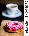 Pink donut with white sprinkle 54064970