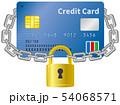 クレジットカードと南京錠のイメージイラスト 54068571