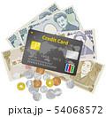 紙幣と硬貨とクレジットカードのイメージイラスト 54068572