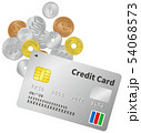 硬貨とクレジットカードのイメージイラスト 54068573