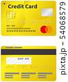 クレジットカードのイメージイラスト(ゴールド)(表裏) 54068579
