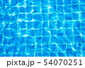 Top view swimming pool blue ripped water abstract 54070251