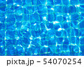 Top view swimming pool blue ripped water abstract 54070254