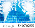 Jacuzzi swimming pool with bubbles blue water for 54070255