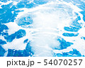 Jacuzzi swimming pool with bubbles blue water for 54070257
