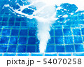 Jacuzzi swimming pool with bubbles blue water for 54070258