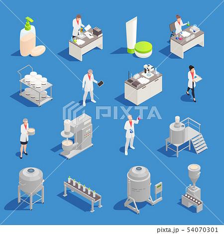 Cosmetics Detergent Production Isometric Icons 54070301