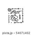 Folk ethnic dance for your design 54071402