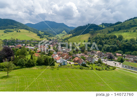Aerial photo of the small climatic health resort 54072760