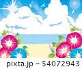朝顔と真夏の海 54072943