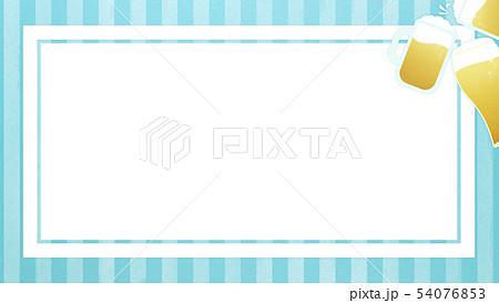 背景-ビール-乾杯-ストライプ-ブルー-フレーム 54076853