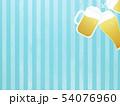 背景-ビール-乾杯-ストライプ-ブルー 54076960