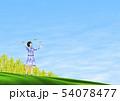 チョウ(イメージ) 菜の花 女の子 春 コピースペース 54078477