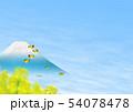 チョウ(イメージ) 菜の花 富士山 春 コピースペース 54078478
