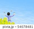 チョウ(イメージ) 菜の花 女の子 春 コピースペース 54078481