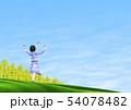 チョウ(イメージ) 菜の花 女の子 春 コピースペース 54078482