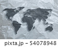 World map made of plastic 54078948