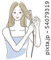 コテを使う女性 54079319