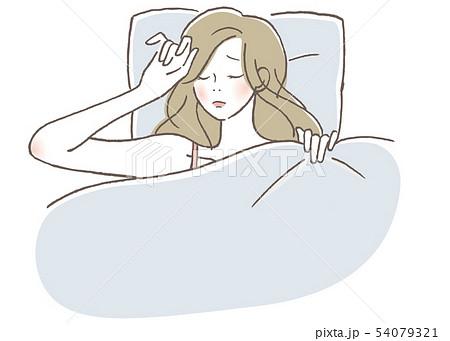不眠 女性 54079321