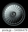 Industrial Steel Round Plate Isolated On Black 54084479