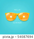 Sunglasses With Orange And Mint Background 54087694