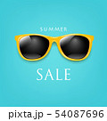 Sale Poster Sunglasses And Mint Background 54087696