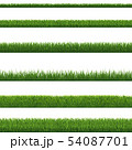 Green Grass Border And White Background 54087701