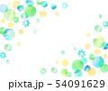 水玉 水彩 フレームのイラスト 54091629