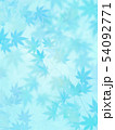 背景-和-和風-和柄-和紙-紅葉-夏-水色 54092771