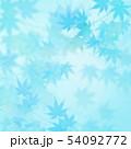 背景-和-和風-和柄-和紙-紅葉-夏-水色 54092772