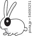 ウサギ 顔 家畜 54093251