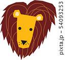 動物 ライオン 顔 54093253