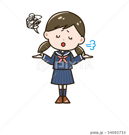 呆れる女の子 ポーズ イラスト 54093733