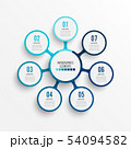 Vector infographic template with 3D paper label, 54094582