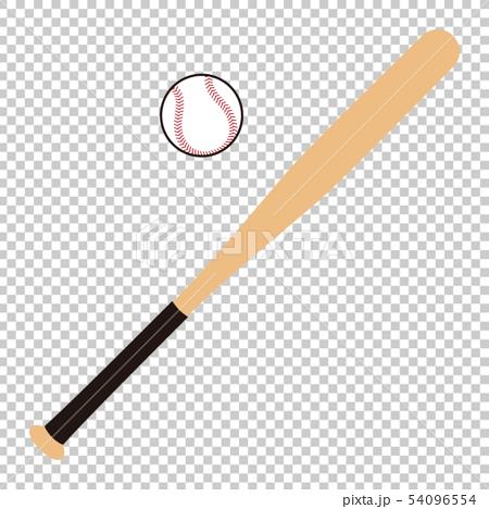 Baseball bat and ball Baseball bat Baseball ball illustration 54096554