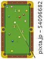 ランダムに配置されたビリヤードの球 54096682