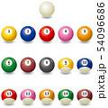 ビリヤード球のイメージイラストセット 54096686