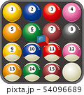 ケースに入っているビリヤード球のイメージイラスト 54096689