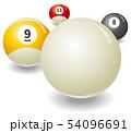 ビリヤード球のイメージイラスト 54096691