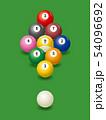 ビリヤード。ナインボールのイメージイラスト 54096692