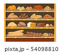 Bread products in shopping mall. 54098810