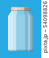 Empty glass jar for canning and preserving. 54098826