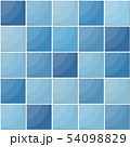 Blue ceramic tiles seamless pattern. 54098829